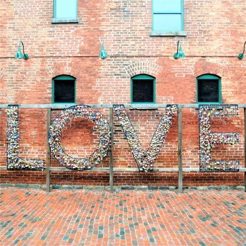 LOVE lock wall - distillery district