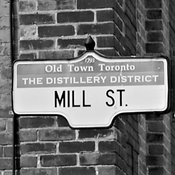 mill st sign - distillery district