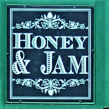 toronto - distillery district - honey & jam sign