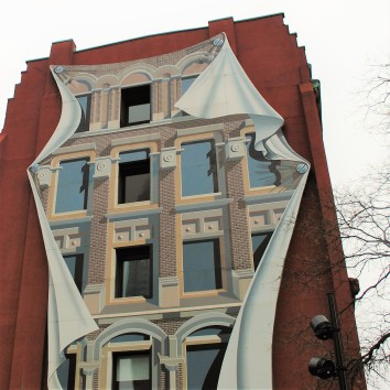 flat iron building mural - wellington & church