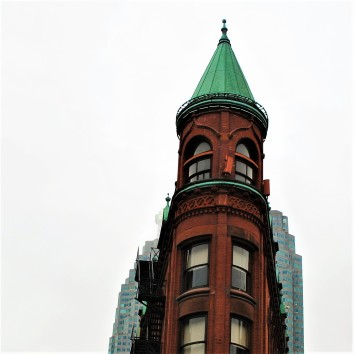 flat iron building - church & front