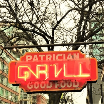 toronto - king & sherbourne - patrician grill sign
