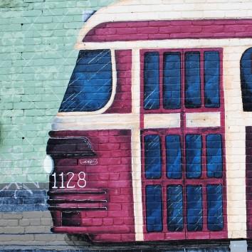 streetcar mural - queen & bertmount