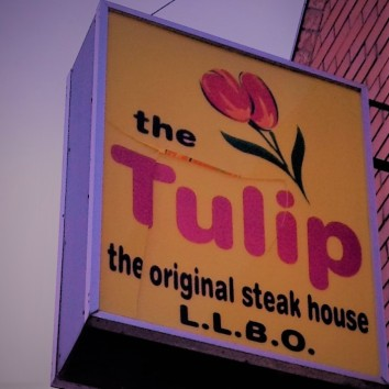 toronto - queen & coxwell - the tulip restaurant sign