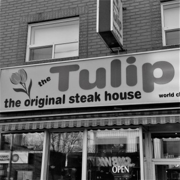 toronto - queen & coxwell - the tulip restaurant - b/w
