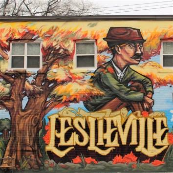 lesliville mural - queen & jones