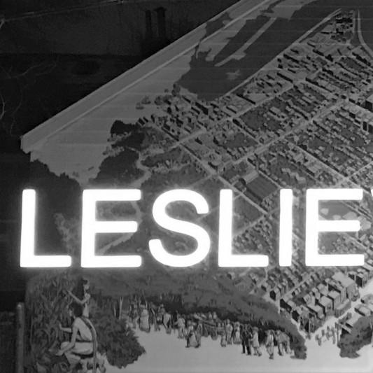 leslieville mural (bw) 1/2 - queen & greenwood