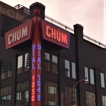 toronto - richmond st - chum building - sign