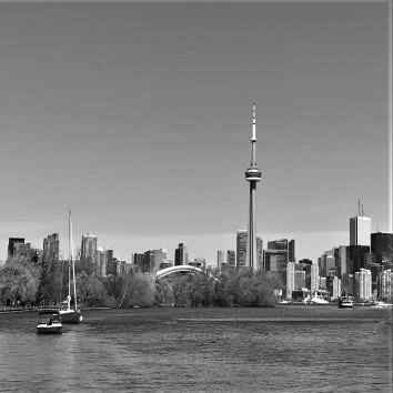 toronto skyline - view from harbour cruise