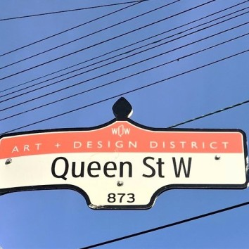 street sign - queen st w @ walnut