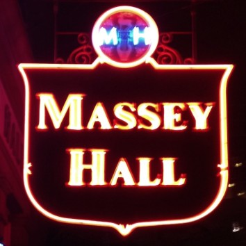 massey hall sign at night - shuter & victoria